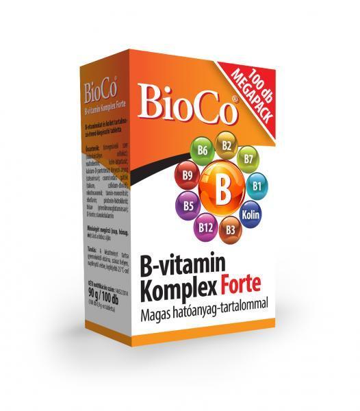BioCo B-vitamin Komplex Forte MEGAPACK 100 db tabletta