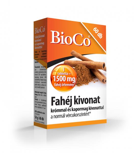 BioCo Fahéj kivonat 60 db tabletta