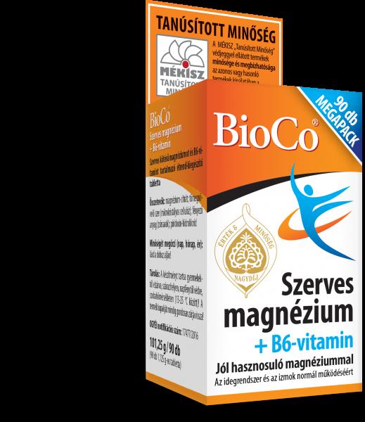 BioCo Szerves magnézium + B6-vitamin MEGAPACK 90 db tabletta