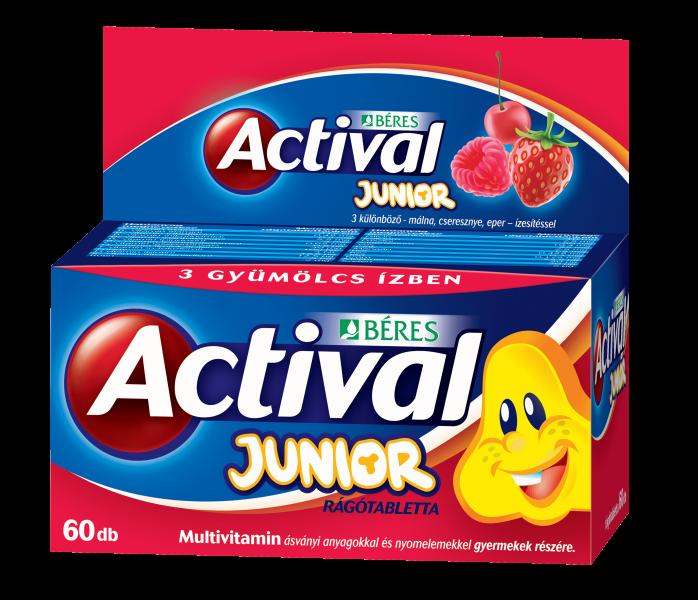 Actival Junior rágótabletta, 60 db