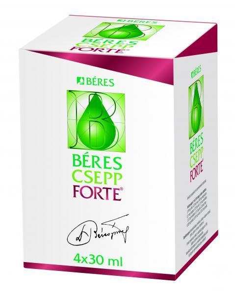 Béres Csepp Forte belsőleges oldatos cseppek, 4x30 ml