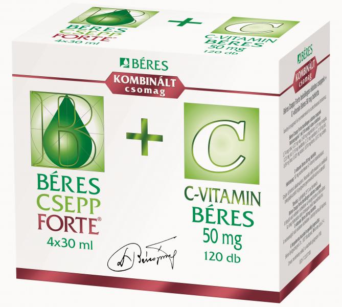 Béres Csepp Forte belsőleges oldatos cseppek + C-vitamin Béres 50 mg tabletta
