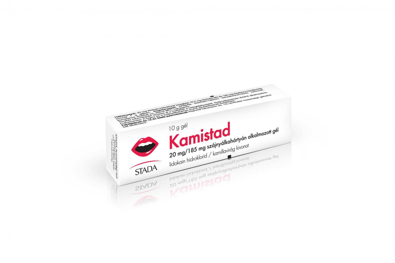 Kamistad 20 mg/185 mg szájnyálkahártyán alkalmazott gél