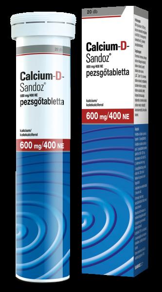 Calcium-D-Sandoz pezsgőtabletta 20x