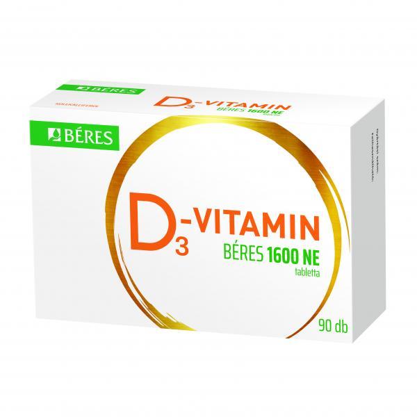 D3-vitamin Béres 1600 NE tabletta, 90 db