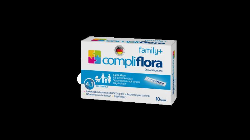 Compliflora family+ étrendkiegészítő por tasakban, 10db