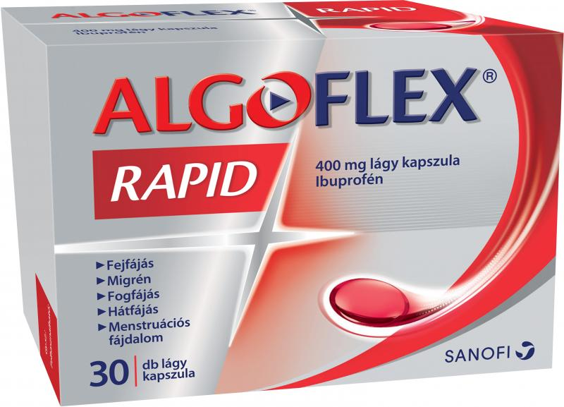 Algoflex Rapid 400 mg lágy kapszula 30x