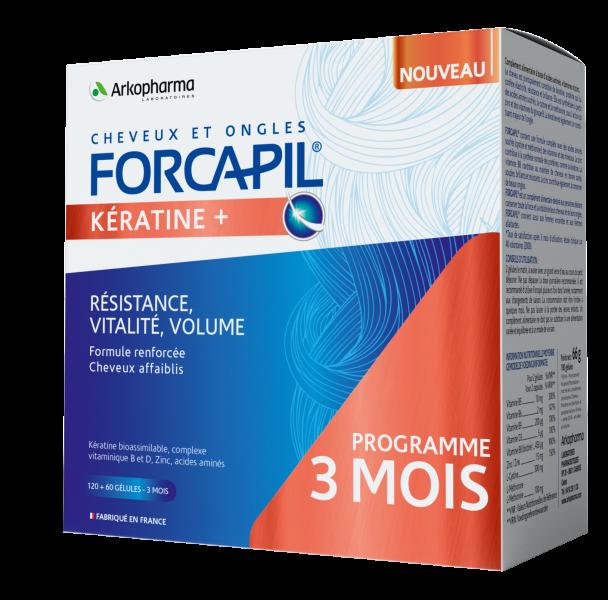 Forcapil Keratin+ Hajerősítő kapszula 120 + 60 db