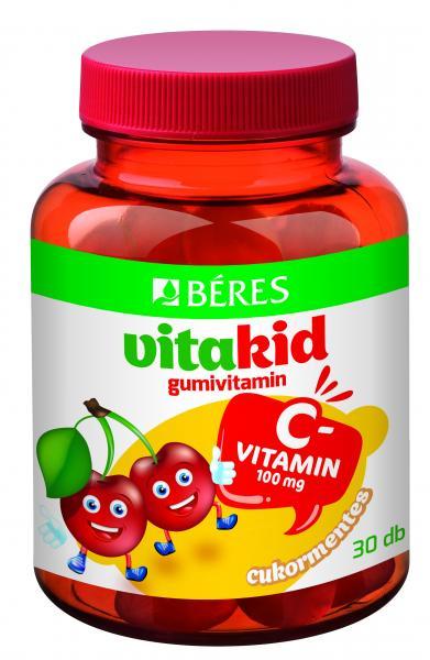 Béres VitaKid C-vitamin 100 mg Gumivitamin, 30db